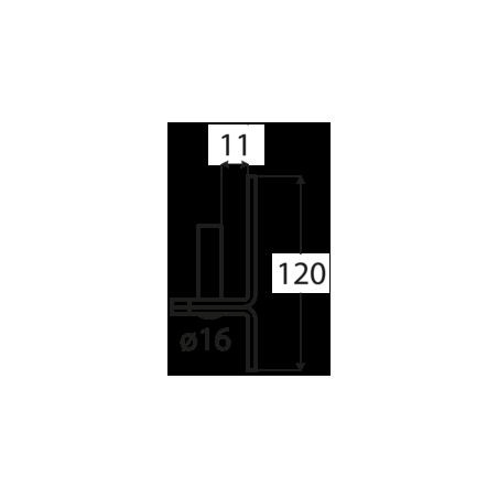 Pánt - C 16/11C - ČIERNY