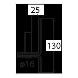 Pánt - C 16/25C - ČIERNY