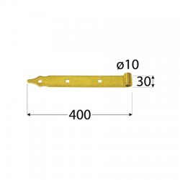 Pánt - ZP 400 d 10 C