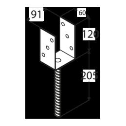 Kotviaca pätka PS90 U