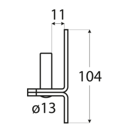 Pánt - C 13/11C - ČIERNY