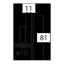 Pánt - C 10/11 C - ČIERNY