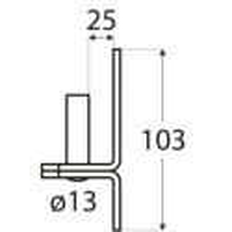 Pánt - C 13/25C - ČIERNY
