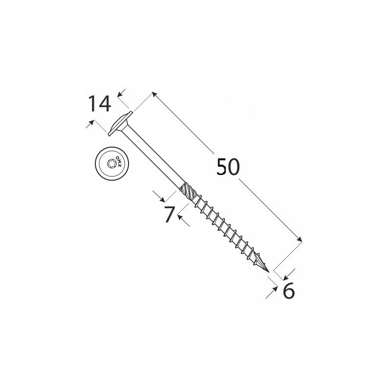 DRVTK 6x50 TORX