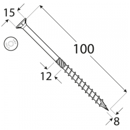Konštrukčný vrut - DRVT 8x100 TORX