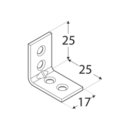 Uholník - KWB 1 BIELY