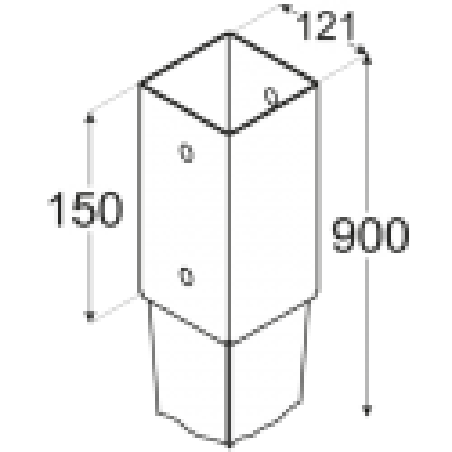 Kotviaca pätka PSG 120/900