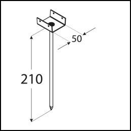 Podpera strešných latí PD 210/50