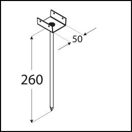 Podpera strešných latí PD 260/50
