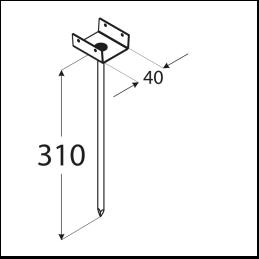 Podpera strešných latí PD 310/40